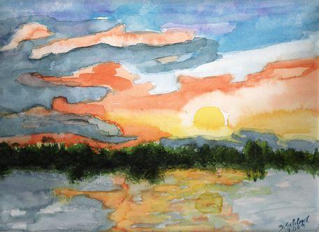 'Kulkwitzer See' von Birgit Schlegel bei artflakes.com als Poster oder Kunstdruck
