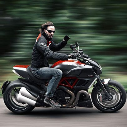 Keanu Reeves road-tests the Ducati Diavel and talks 'demon' rides, dumping bikes…