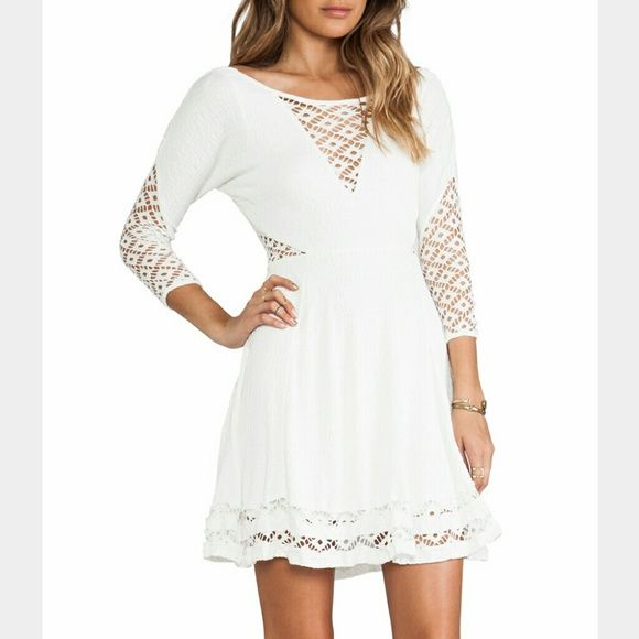 Last Chance ❗Free People White Dress 97% rayon, 2%polyester, 1% spadex. The material is heavy but flattering in the body.   Brand new and in perfect condition. No trades! FINAL PRICE. Free People Dresses