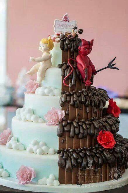 Engel Teufel Geteilte Torte Tolle Torten Pinterest