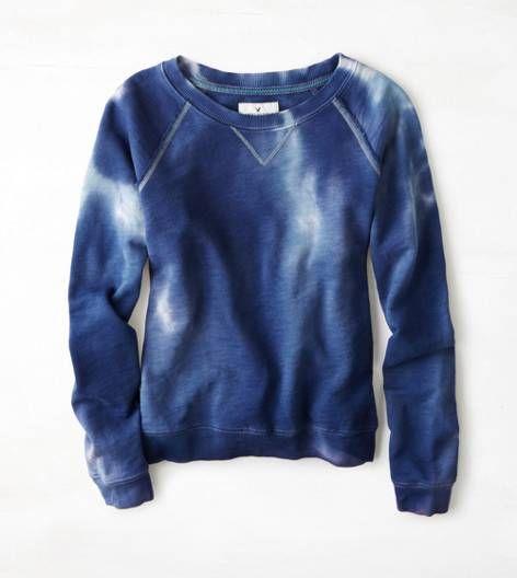 Azul marino Sudadera de cuello redondo AEO
