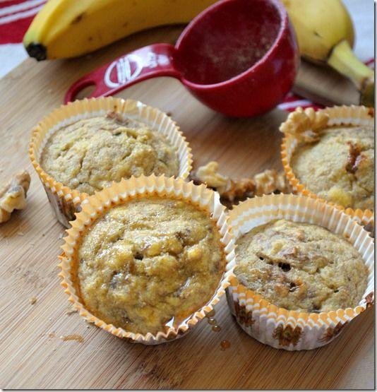 Paleo Banana Nut Muffins (bananas, eggs, cinnamon, coconut flour)