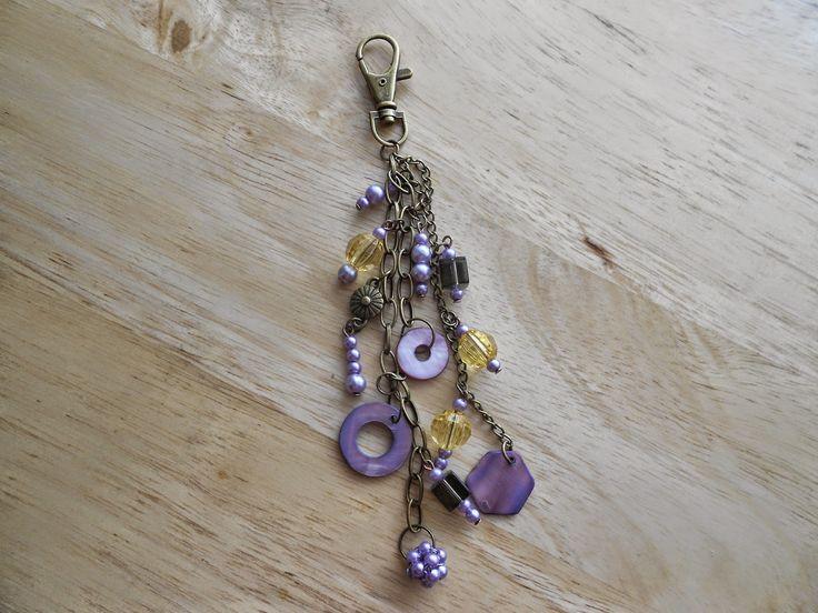 Izabela craftwork ... purple handbag charms:http://izabelacraftwork.blogspot.ro/2014/07/handbag-charms.html