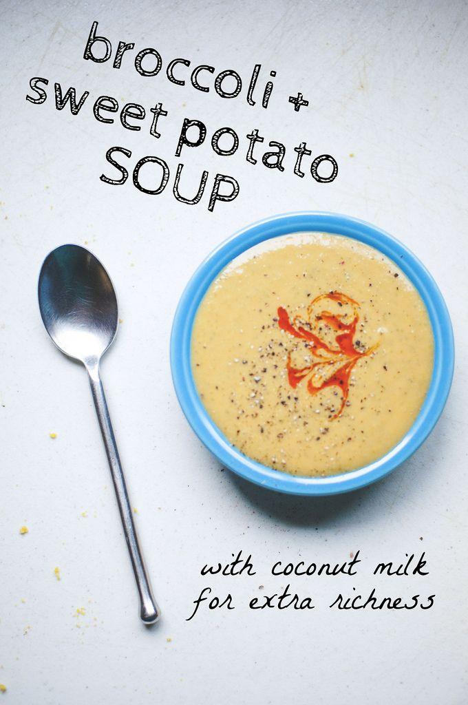 Broccoli + Sweet Potato Soup, vegan recipe // neverhomemaker