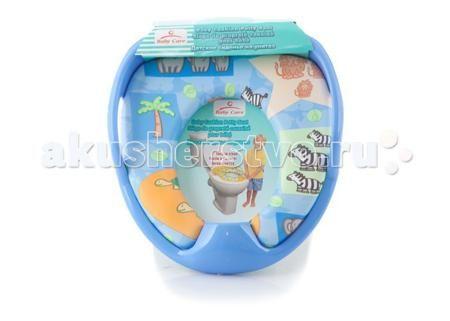 Baby Care Сиденье на унитаз  — 630р. ---------------------------  Мягкое детское сиденье на унитаз Baby Care с мягким гигиеничным покрытием обеспечивает максимальный комфорт малышу. Сиденье может устанавливаться на всех типах унитазов.  Основные характеристики: Возраст ребёнка: от 6 месяцев до 3 лет Максимальная нагрузка: до 18 кг Размер сиденья: 29,5 см х31 смx8 см Размер отверстия: 13 см х 17 Материал: нетоксичный пластик