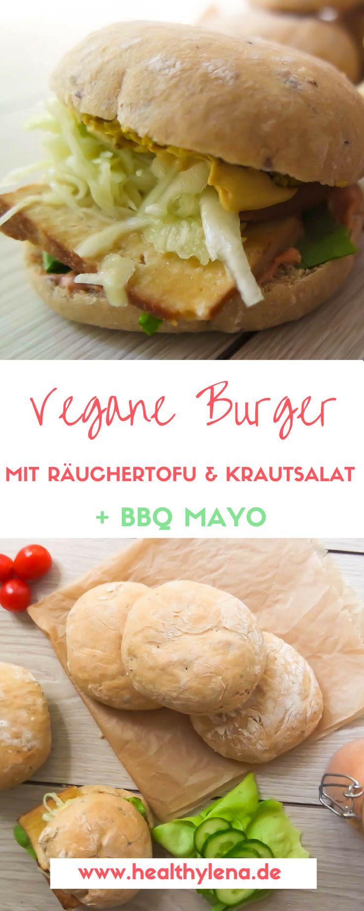 Nachdem ich dir letzte Woche schon ein Rezept für vegane Burgerbrötchen präsentiert habe, geht es nun weiter mit einem veganen Burger mit Räuchertofu, Krautsalat und Barbecue Mayo, der sich perfekt zum Grillen eignet. Er ist schnell gemacht und hat tatsächlich auch schon Nicht-Veganern gut gemundet. Auf Wunsch auch ohne Soja!
