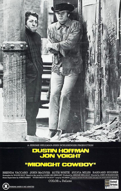 Midnight Cowboy (1969) del director John Schlesinger. Inmejorables actuaciones de Dustin Hoffman y Jon Voight.