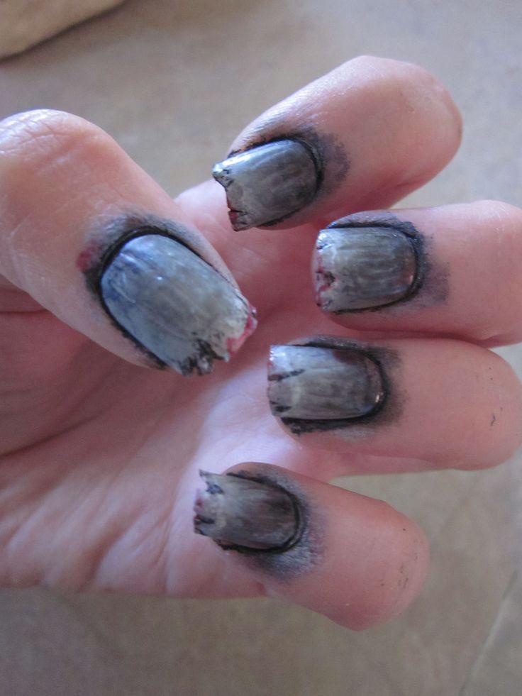 Zombie Nail Art Tutorial | Zombie nails, Zombie nail art ...