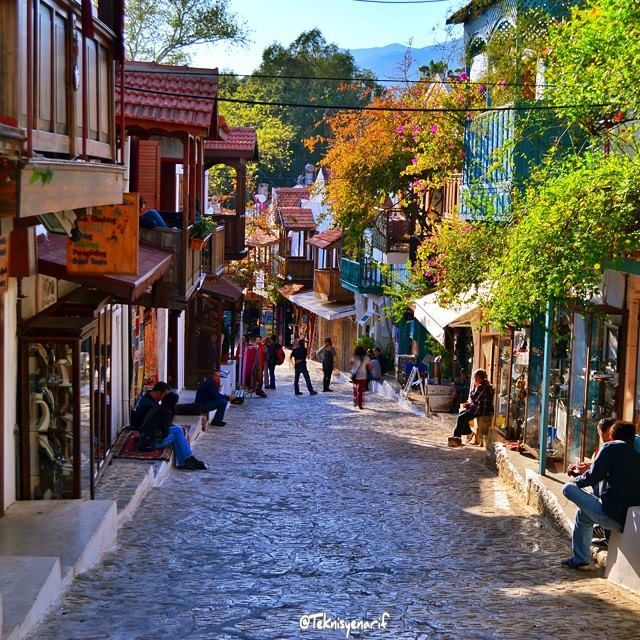 Narrow streets of #Kas just add charm to this small resort city in #Turkey