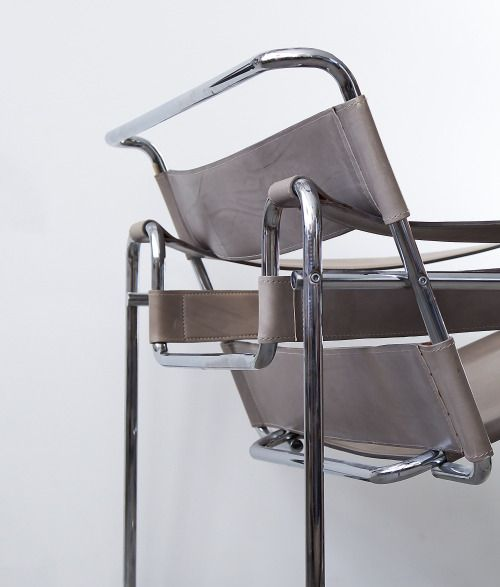 Great MARCEL BREUER Model B Chair also known as the Wassily Chair