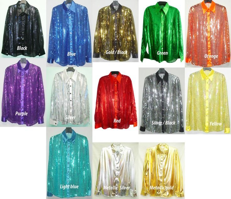 Disco Glitter Sequin Metallic Oversized Blouse Dance Performance Shirt - Ebay (to wear with a top hat  black shorts over lingerie for Burlesque Dance)