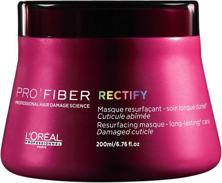 L'Oréal Professionnel PRO|FIBER Rectify Resurfacing masque 200ml. Mascarilla Reparadora del cabello dañado, con efectos visibles en el cabello desde la primera aplicación. Para un cabello suave, sedoso, ligero