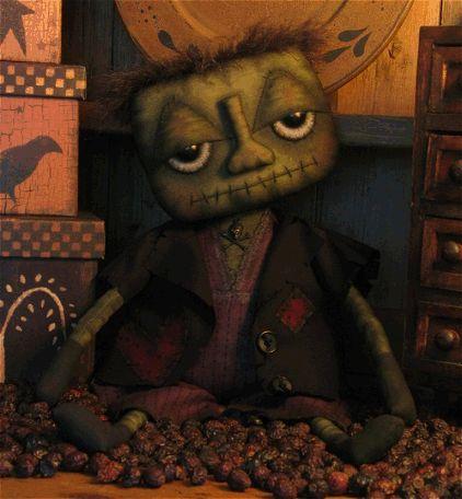 Primitive Halloween Frankenstein Pattern..Love this guy!