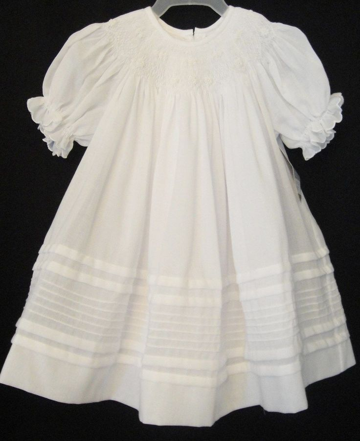 top wedding invitations016%0A Will u    Beth      C Elegant White Smocked Dress with Slip Girl u    s
