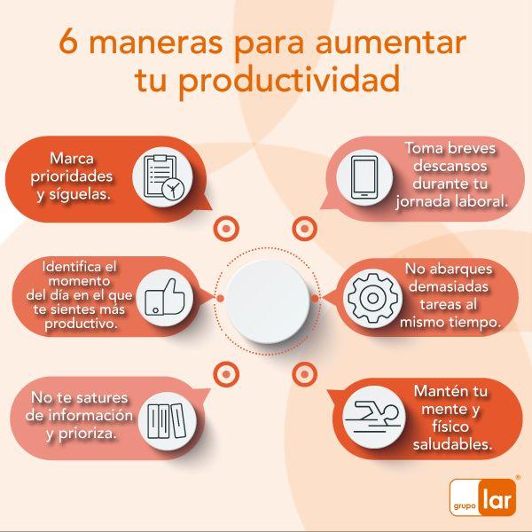 Si quieres llegar a ser el mejor en tu área te dejamos estos consejos para que aumentes tu productividad laboral.  #TipDeNegocios #Futuro #Emprendedor #Proyecto #Business #World #Tip #Crisis #Inversión #Advice #ElPoderDeCrear #GrupoLarMéxico