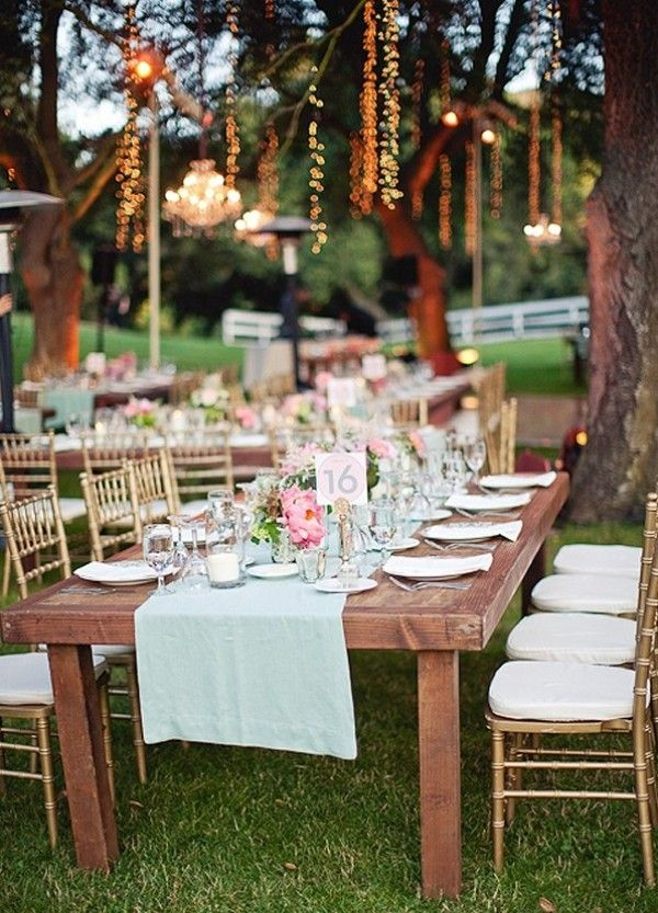 mint pink gold colors, pink wedding flowers, mint reception linens.  This is exactly the color scheme I want