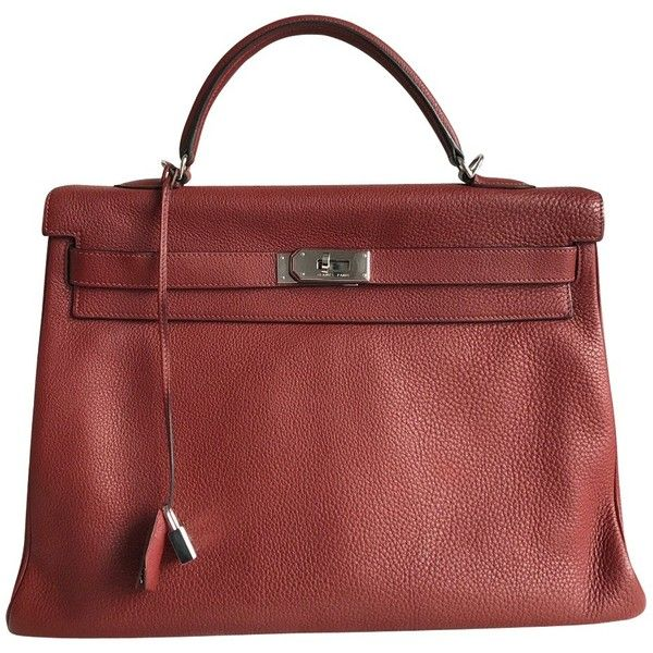 Pre-owned Hermès bag ($9,460) ❤ liked on Polyvore featuring bags, handbags, bordeaux, silver purse, hermes bag, red bags, preowned handbags and burgundy purses