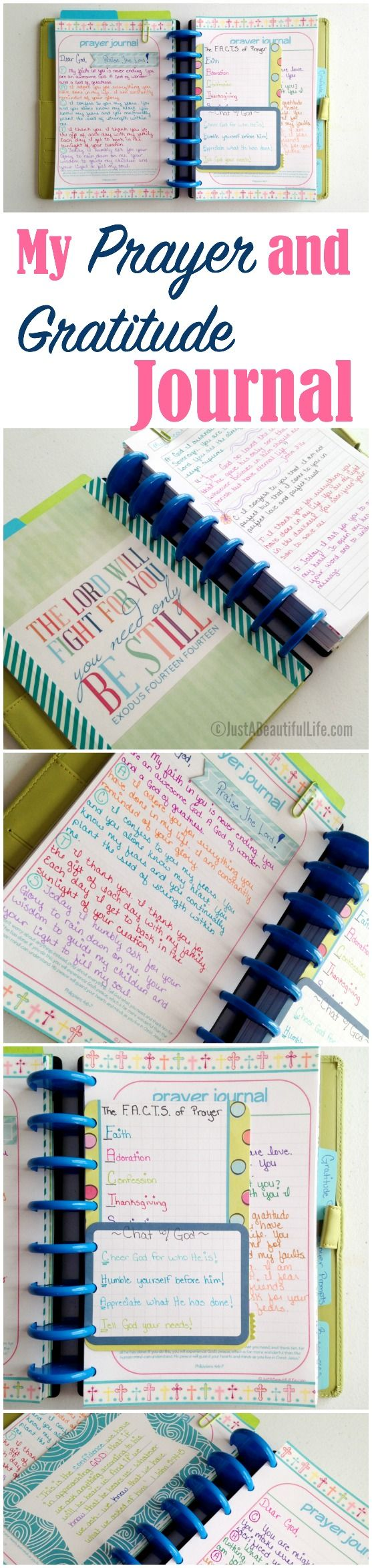 A simple set up prayer and gratitude journal.