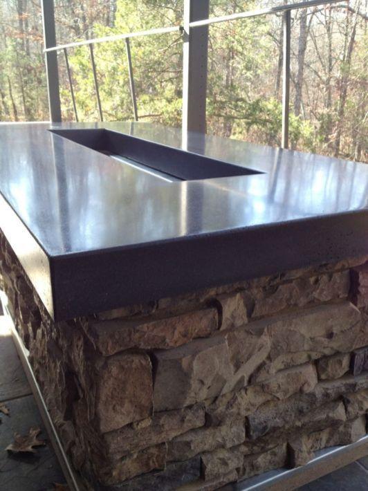 Polished Concrete Countertop 210 Concrete Decor Concrete Countertops Outdoor Kitchen Design