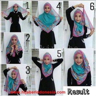"""""""Square Hijab"""" Kreasiasi Hijab Segi Empat Model Baru Dengan Bahan Cerruty Printing"""
