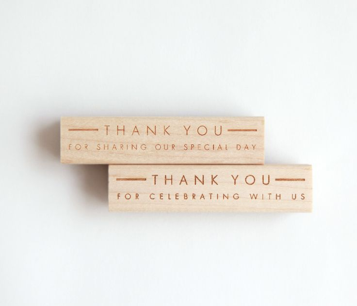 "Wedding Thank You Stamp, Ultra Minimalist Modern (Wood Mounted) optional wooden handle ""Thank you for sharing our special day"" (S150A-S150B) by HunterandCoDesigns on Etsy https://www.etsy.com/ca/listing/158697244/wedding-thank-you-stamp-ultra-minimalist"