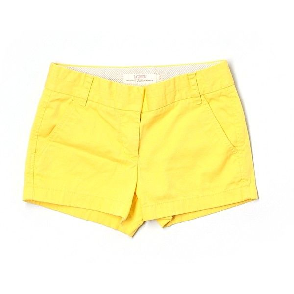 Pre-owned J. Crew Khaki Shorts Size 00: Gold Women's Bottoms ($17) ❤ liked on Polyvore featuring shorts, gold, khaki shorts, gold shorts and j. crew shorts
