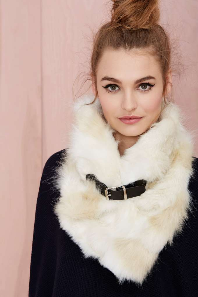 Nasty Gal Neck Yourself Faux Fur Scarf