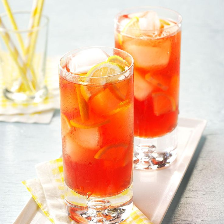 Raspberry Iced Tea Recipe -One sip and you'll likely agree this is the best flavored tea you've ever tasted.—Christine Wilson, Sellersville, Pennsylvania