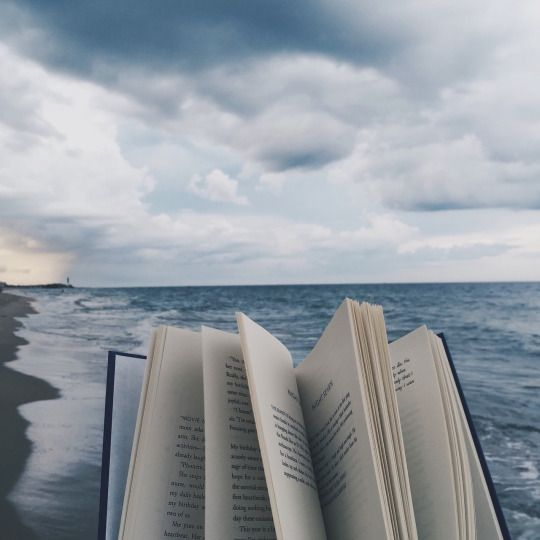 Mm...perfect...so much to like here I don't know where to pin this. The sea, the clouds, the book...