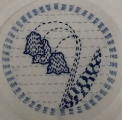 : Bluebells Kantha stitching kit from Angela Daymond -