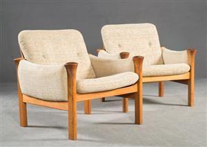 Vara: 4325825Arne Vodder, Paar Lounge Sessel Modell 162 in Teak für Cado (2)