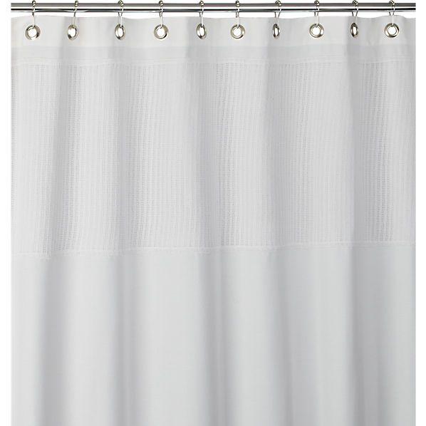 cb2 Netty white shower curtain.