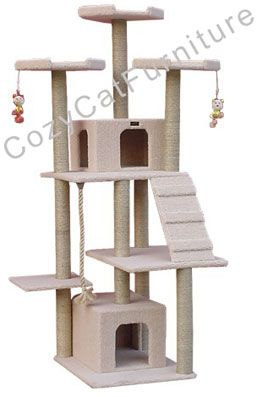 Large Cat Tree Furniture with Cat Condos I would get 2 and put in sunroom for all 4 cats