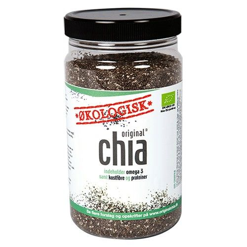 Chia frø har et stort indhold af Omega-3, kostfibre og proteiner. Perfekt supplement til dit bagværk, anvendes både til rugbrød, hvedebrød og boller. Kan med stor fordel anvendes til glutenfri bagning og glutenfrie brødprodukter.  Brugsanvisning: Anbefalet daglig indtag 15 gram