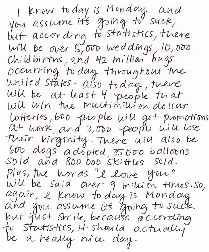 Mondays this is the greatest thing ever written. perfection #positive #monday