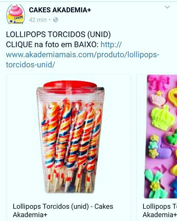 LOLLIPOPS TORCIDOS (UNID) CLIQUE na foto em BAIXO: http://www.akademiamais.com/produto/lollipops-torcidos-unid/