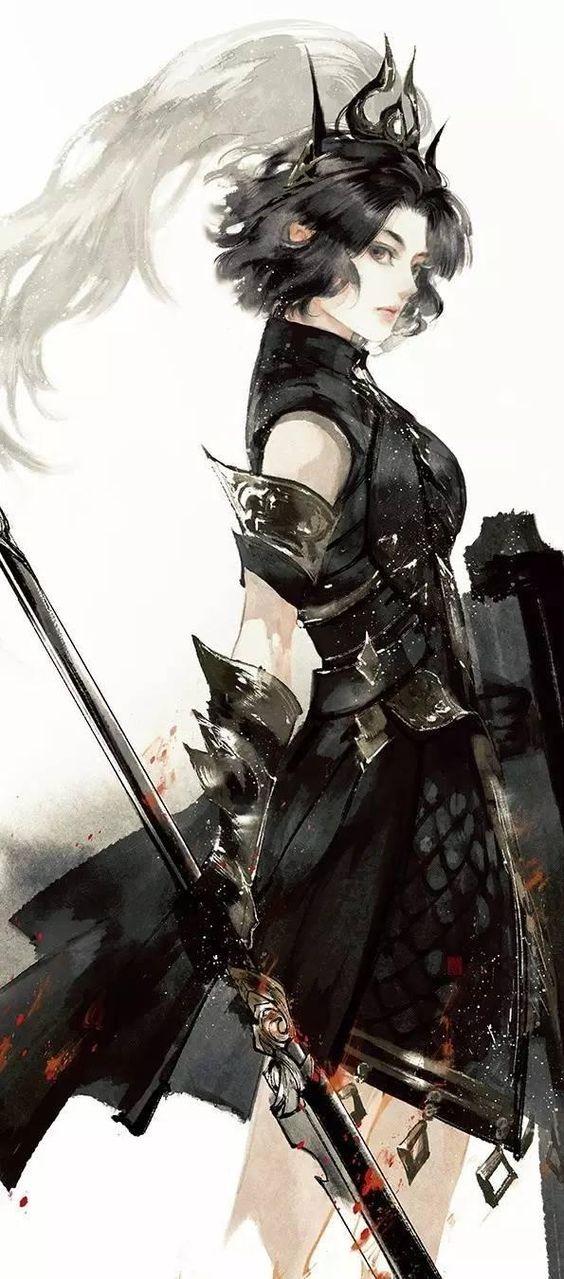 Dragon-Blooded in black jade armor - Thương Vân