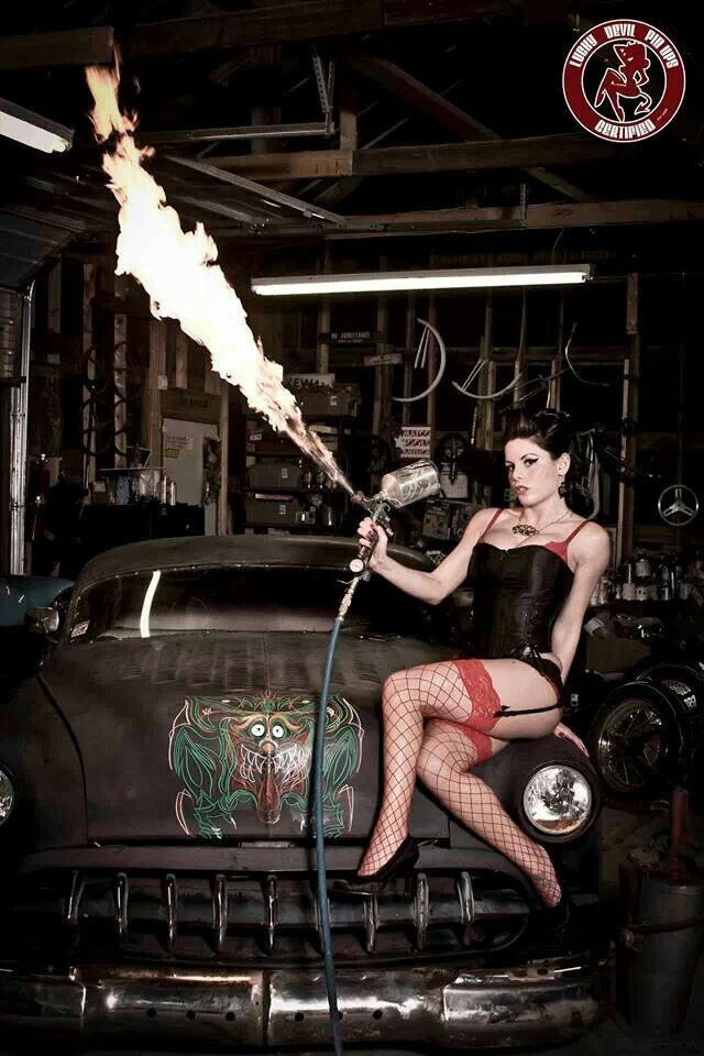 Dany Bullet: Hotrods Pinup, Photos Ideas, Boudoir Photos, Devil Pinup, Rats Rods, Pinup Girls, Lucky Devil, Hot Rods, Hot Pin Up Girls