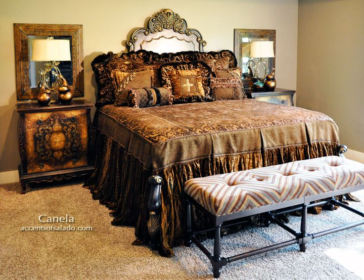 Old World Bedroom New Canela Luxury Bedding Gorgeous Trimmings Cinnamon Colors Just