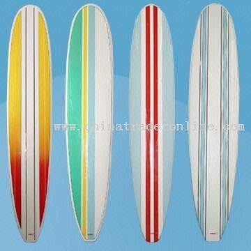Surfboards With Vertical Stripes