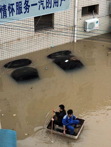 Torrential rain has triggered major flooding in China, where at least 57 people have died and more than one million have been evacuated. The worst of the flooding has struck the provinces of Sichuan, Shaanxi and Henan. A Ministry of Civil Affairs sta...