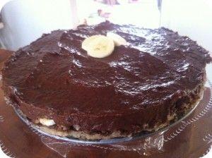 RAW banan-chokolade-lagkage