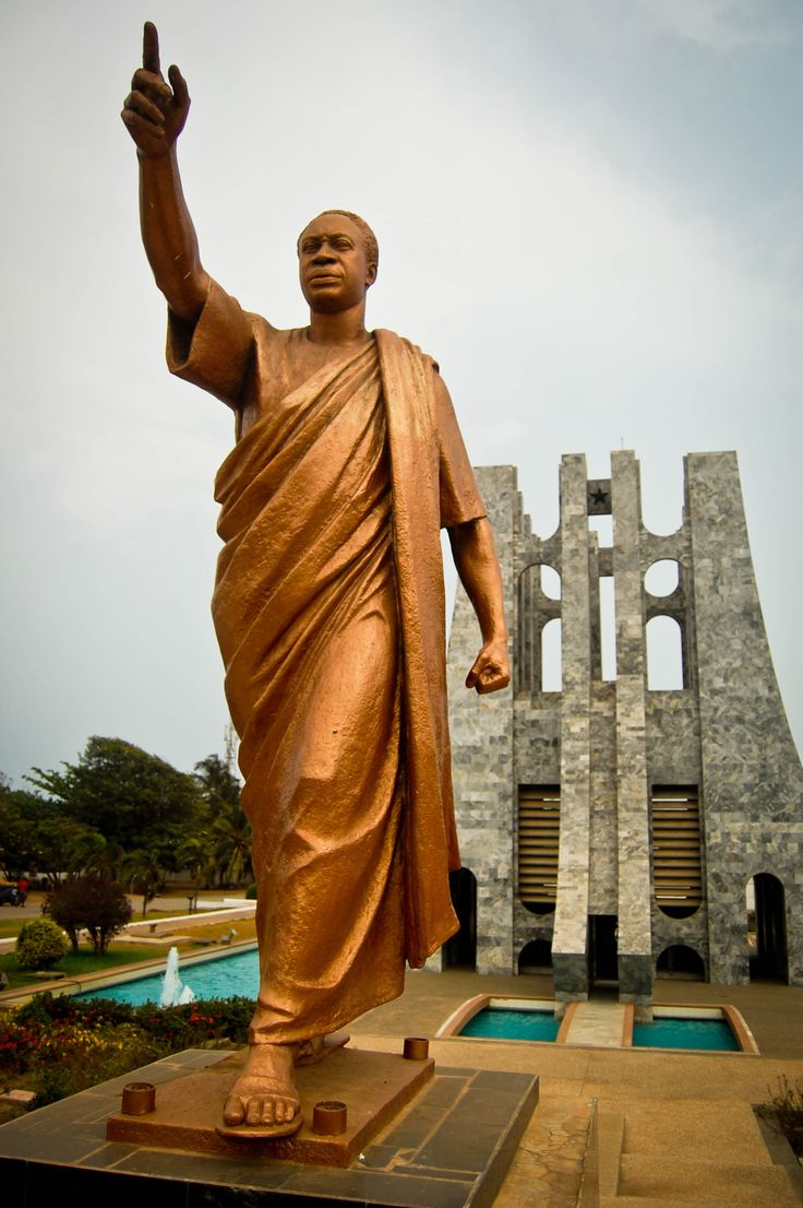 Statue of Kwame Nkrumah, Ghana An influential 20th-century advocate of Pan-Africanism, he was a founding member of the Organization of African Unity and was the winner of the Lenin Peace Prize in 1963.