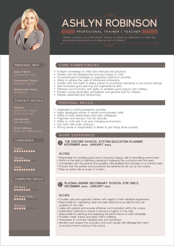 free resume cv design template for trainers teachers good resume - Free Resume Design Templates