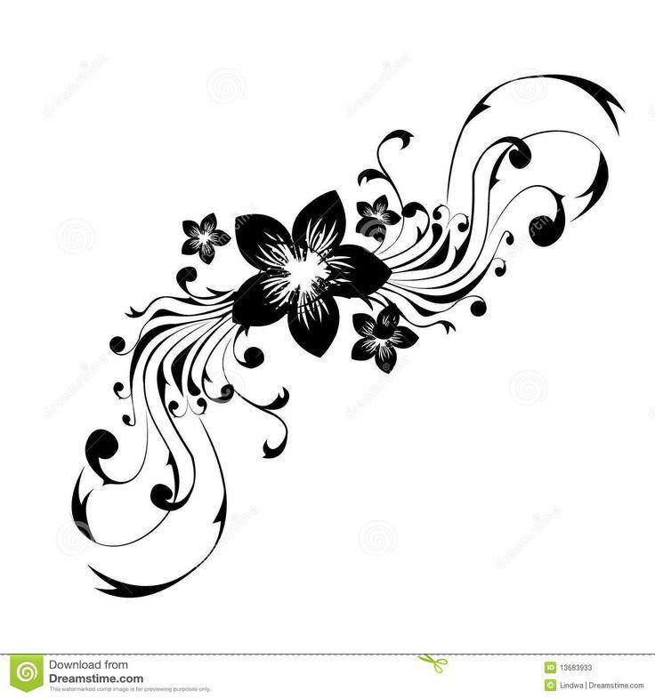 Tatuaggio Di Disegno Floreale Fotografia Stock Libera da Diritti ...