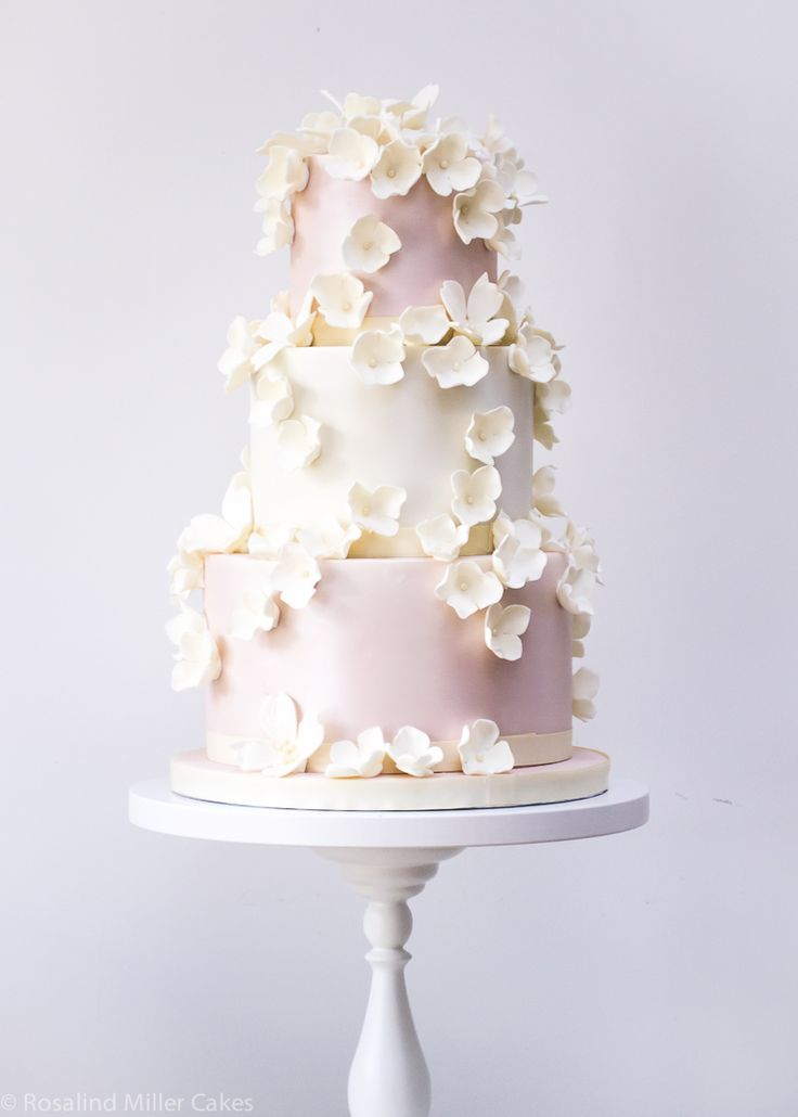 Falling Blossoms Wedding Cake by Rosalind Miller Cakes - London