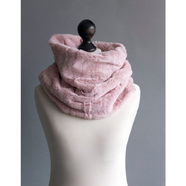 Infinity scarf. Faux fur infinity scarf. Faux fur snood in pink rose. (£17) ❤ liked on Polyvore featuring accessories, scarves, infinity loop scarves, pink shawl, circle scarf, faux fur infinity scarves and infinity scarves
