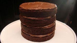 Four Tier Chocolate Layer Cake by DaisyCombridge