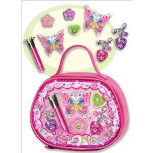 awesome BEST SELLER - Girls makeup sets Sparkling Beauty, Girl's REAL lipglosses, Charms and More! Butterfly Lipgloss Makeup Set - Girl's Makeup Kit or Set