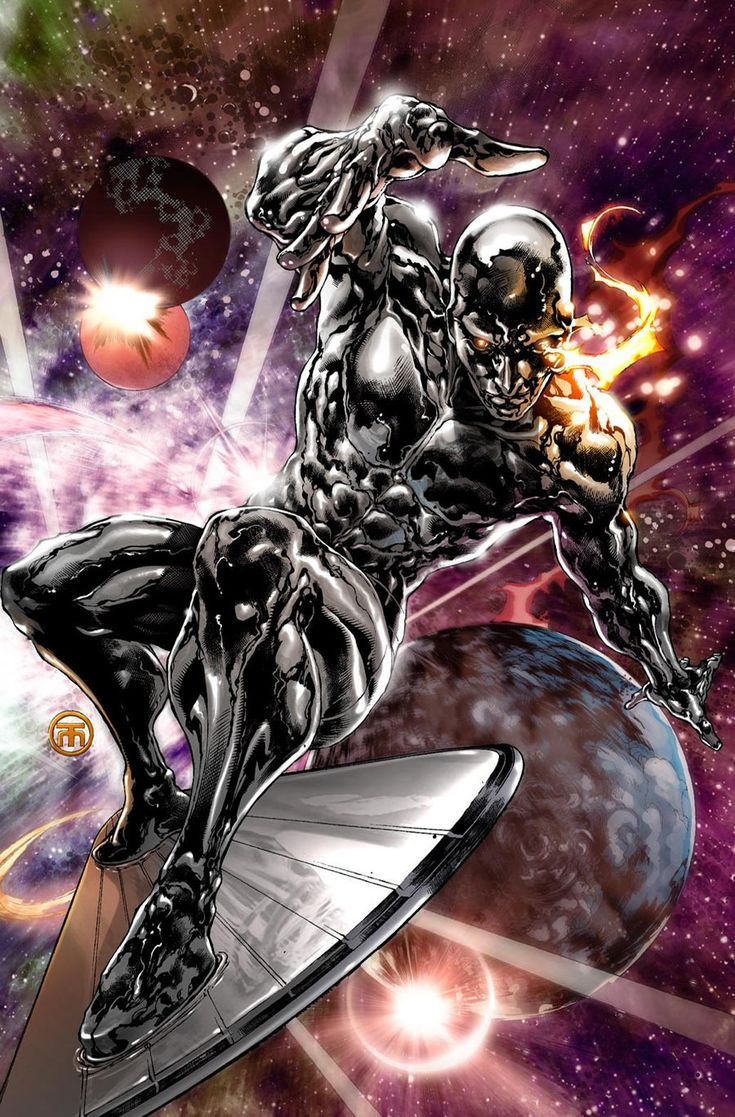 Silver surfer - shiny, buff, & practically naked :)